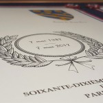 Le diplôme commémorant le 70ème anniversaire de notre parrainage avec Lauterbourg.
